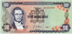 pCS2 SPECIMEN SET $10 *002380 Bank of Jamaica Collector Series Issue. 7500 sets of 4 notes issued in a blue folder with COA. Banknote