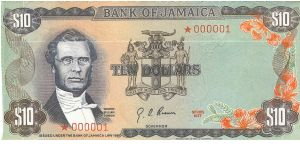 CURRENCY DAY SET $10 *000001 Bank of Jamaica Issue. Sets of 4 envelopes printed as notes issued in a blue Bank of Jamaica folder. Set# 002380 Banknote