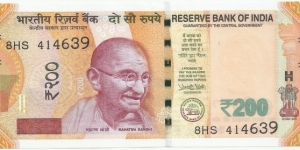 India-BN 200 Rupees 2018-New Serie Banknote
