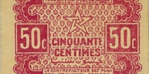 MOROCCO 50 Centimes