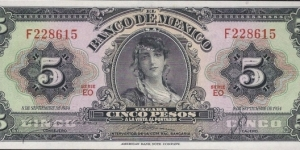5 $ - Mexican peso