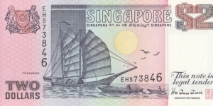 Singapore 2$ 1992 Banknote
