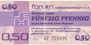 50 Pfennigs (Foreign Exchange Certificate / East Germany 1979) Banknote