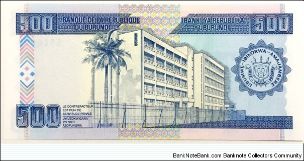 Banknote from Burundi year 1995
