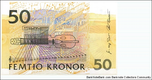 Banknote from Sweden year 2007